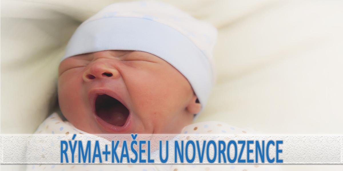 Rýma a kašel u novorozence